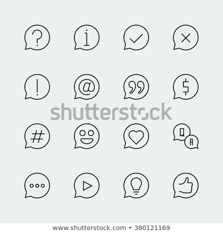 Hashtag symbol line icon. Stock photo © RAStudio