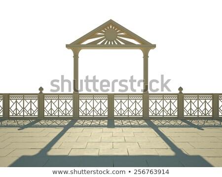 white balcony balustrades stock photo © digifoodstock