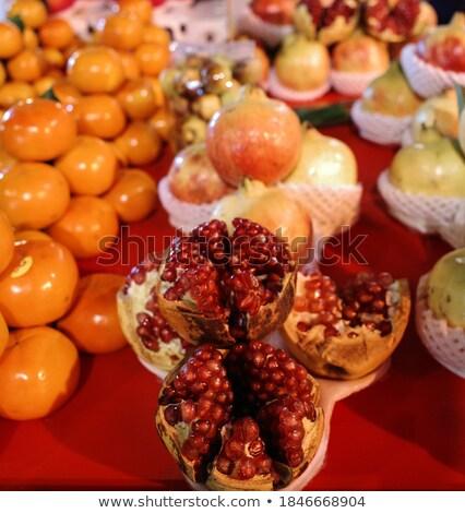 Food street pomegranate raw and pomegranate juice in china town  Stock photo © Mariusz_Prusaczyk