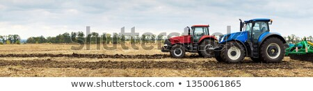 Farm landscape with plowed field Stock photo © hraska