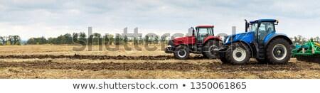 farm landscape with plowed field stock photo © hraska