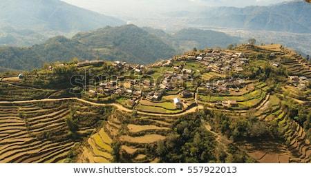 Luchtfoto Nepal meer stad landschap berg Stockfoto © dutourdumonde