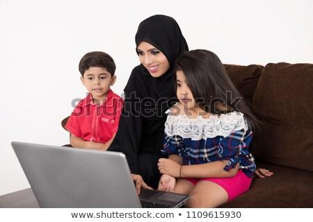 gelukkig · arabisch · vader · hoofddoek · zoon - stockfoto © zurijeta