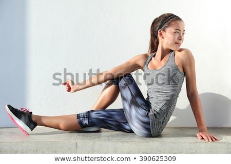 meisje · ongezond · maag · illustratie · gezondheid · achtergrond - stockfoto © bluering