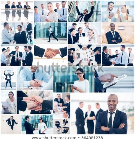 成功した · ビジネスの方々 ·  · 本当の · オフィス · 作業 · ビジネス - ストックフォト © zurijeta