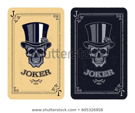 Flaming joker on black Stock photo © bluering