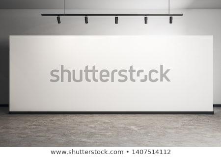 フレーム 白 ギャラリー 壁 黒 ビジネス ストックフォト © plasticrobot