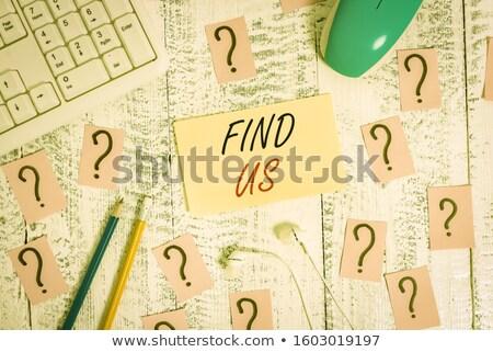 Retroazione parola ufficio strumenti tavolo in legno scuola Foto d'archivio © fuzzbones0