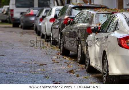Cars parked on the road Stock photo © bluering