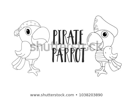 Stock photo: Pirate black and white icon set