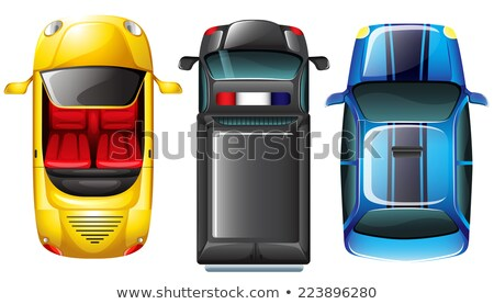 A topview of the parked cars Stock photo © bluering