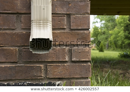 Rain gutter facing forward Stock photo © icemanj