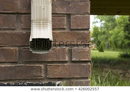 eső · csatorna · szemben · előre · oldal · ház - stock fotó © icemanj