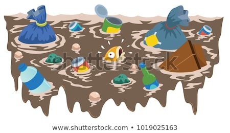 polluted river full of rubbish and fishes stock photo © luissantos84