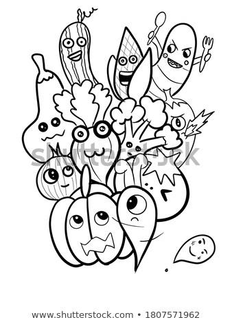 cute doodle vegetables stock photo © kariiika