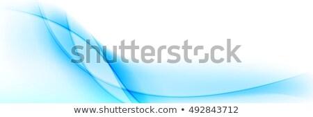 Stock fotó: Absztrakt · fényes · kék · hullámos · szalag · terv