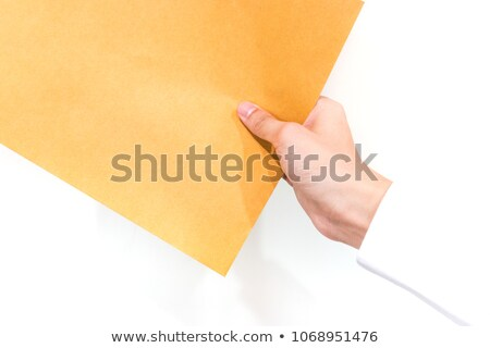 Man in suit holding 'man' letters Stock photo © zurijeta