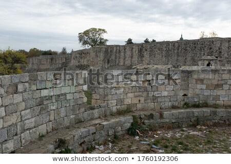 Belgrado · velho · castelo · Sérvia · grama · relógio - foto stock © phbcz