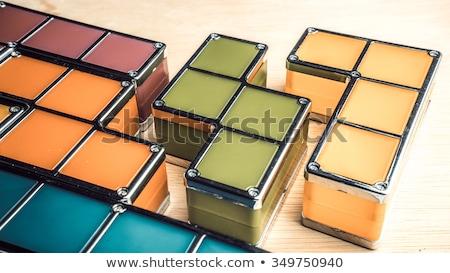 Foto stock: Quebra-cabeça · praça · lacuna · cinza · projeto · pergunta