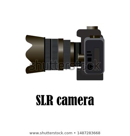 Klasszikus teleobjektív lencse 1970-es évek izolált fehér Stock fotó © peterguess