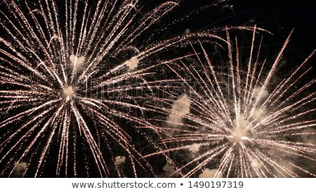 Beautiful celebration fireworks over starry sky, copy space Stock photo © TasiPas