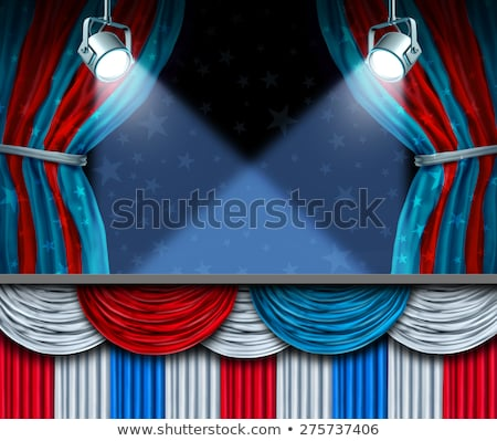 American Politics Blank stage Stock photo © Lightsource