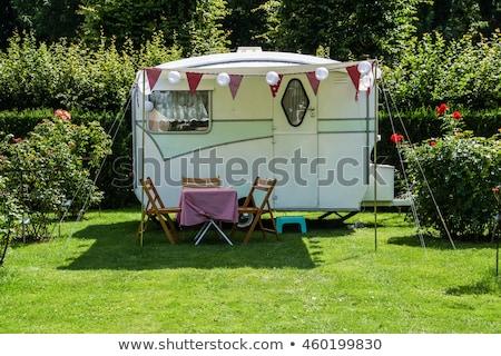 кемпинга караван дизайна 10 семьи солнце Сток-фото © sdCrea