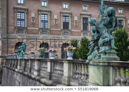 bronze sculpture Religion at the Royal palace statue, Stockholm Stock photo © vladacanon