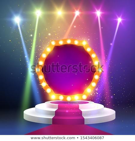 Fase scenico luci eps 10 podio Foto d'archivio © beholdereye