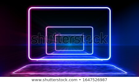 Abstract colorful neon background with rounded rectangle Stock photo © punsayaporn