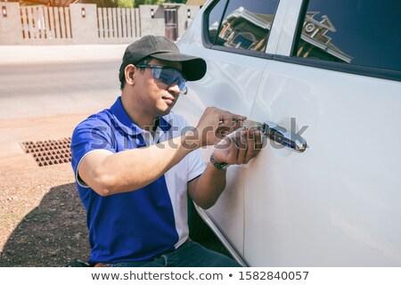 persona · mano · apertura · coche · puerta · primer · plano - foto stock © andreypopov