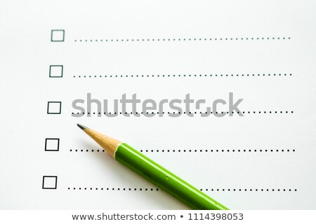 blank survey checklist concept stock photo © ivelin