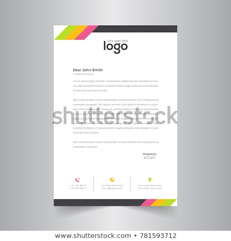 Abstrakten kreative Briefkopf Vorlage Vektor Design Stock foto © SArts
