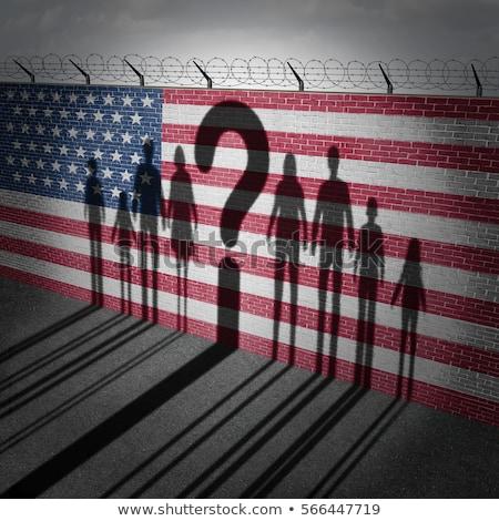 Соединенные · Штаты · стены · иммиграция · границе · безопасности · незаконный - Сток-фото © lightsource