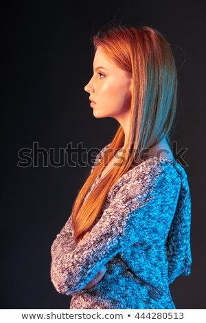 Gorgeous young redhead portrait. Stock photo © lithian