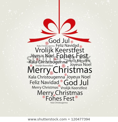 Merry Christmas. Lettering text for greeting card shape sphere Stock photo © orensila