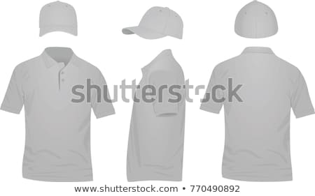 Foto stock: Camiseta · frente · vista · lateral · vector · plantilla · vista