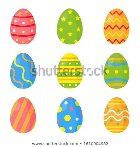 set of decorated easter eggs stock photo © synentchenko