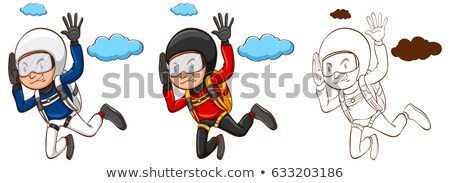 Drafting character for man doing parachute Stock photo © bluering