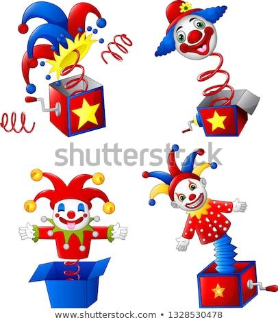 clown · illustratie · kinderen · kijken · kind · jongen - stockfoto © orensila