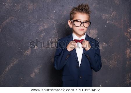 Cute мало мальчика костюм гримаса Сток-фото © LightFieldStudios