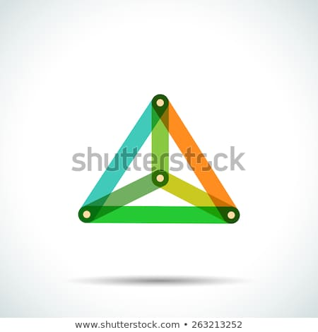 Abstract pyramid logo with intersecting transparent lines Stock photo © SwillSkill