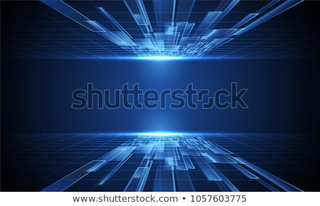 abstract · tech · ontwerp · Blauw · vector · pleinen - stockfoto © orson
