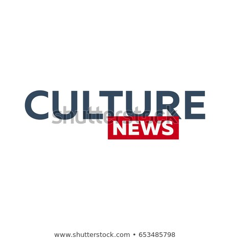 Mass media. Culture news logo for Television studio. TV show. Stock photo © Leo_Edition