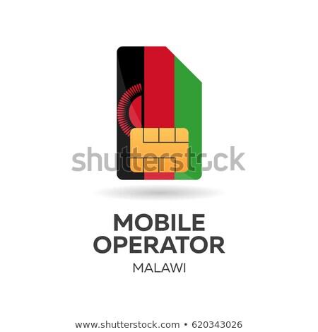 Malawi mobile operator. SIM card with flag. Vector illustration. Stock photo © Leo_Edition