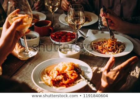 Italiaans · smaak · mooie · jonge · brunette · vrouw - stockfoto © lithian