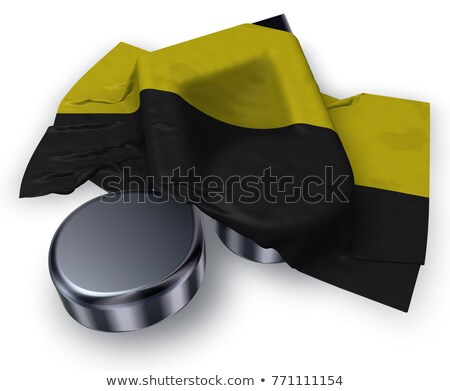 clef symbol and flag of saxony-anhalt - 3d rendering Stock photo © drizzd