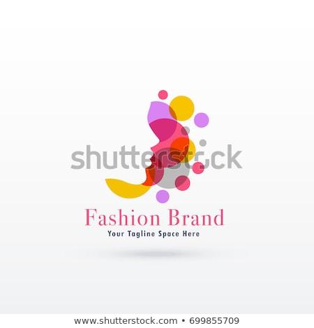 красочный феминизм дизайн логотипа бизнеса знак цвета Сток-фото © SArts