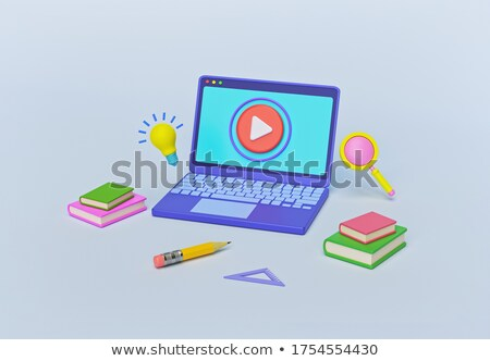 Távolság tanul laptop modern munkahely 3d illusztráció Stock fotó © tashatuvango