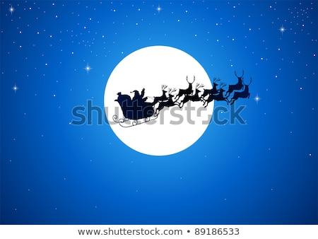 Дед Мороз пространстве Flying красный планеты звезды Сток-фото © romvo
